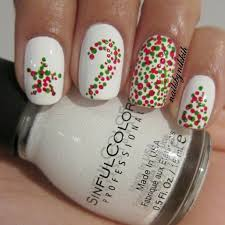 best 25 christmas nail designs easy simple ideas on pinterest