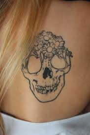 11 best girly skull and flower tattoos images on pinterest