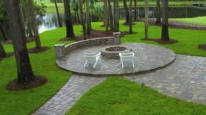 Paver Patio Designs With Fire Pit Gorgeous Ponte Vedra Paver Patio Design And Construction With Seat