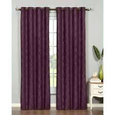 plum curtain panels faux silk grommet extra wide curtain panel