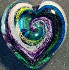 ashes into glass glass memory heart large satine s heart your pets pered