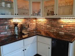 kitchen ceramic tile that looks like brick brick backsplash