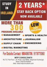 2 year degree study masters in ireland and get upto 2 years of post study visa