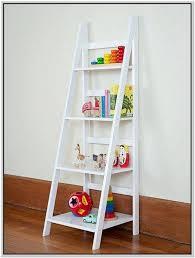 Bookshelves Oak by White Leaning Bookcase White Ladder Bookshelf An Error