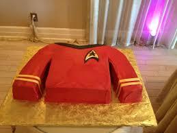 star trek cake blue shirt medical or science division star