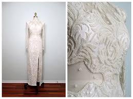 pearl vintage lace wedding dress bridalblissonline com