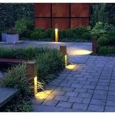 Electric Landscape Lights Modern Solar Landscape Lighting Large Outdoor Solar Light Square