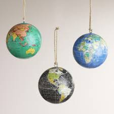 paper globe ornaments set of 3 paper globe ornaments set of 3