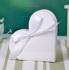 favor ribbons heart shaped favor boxes with ribbons set of 12 050032974
