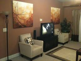 nice wall color with dark brown furniture photo ormc house decor