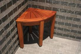 15 5 teak shower bench from the corner collection