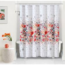 White Shower Curtains Fabric Orange And Gray Shower Curtain Orange Shower Curtains You Ll Love