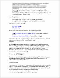 Apa Format Sample Paper Essay Apa Research Paper Example For Psychology