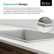 Drop In Stainless Steel Sink Stainless Steel Kitchen Sinks Kraususa Com