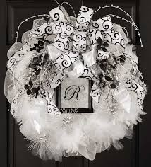 white deco mesh deco mesh wreaths leisurearts