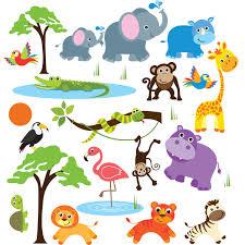 amazon com animal alphabet baby nursery peel andstick wall art safari adventure decorative peel stick wall art sticker decals