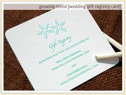 gift card registry wedding images of bridal registry custom letterpress gift wedding