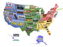 this map shows famous movies u0026 tv shows set in each u s state