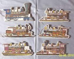 6 vintage steam train engine christmas ornaments merrimack