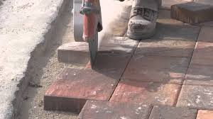 How To Cut Patio Pavers Cutting The Paver Border