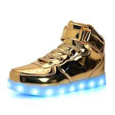 light up shoes boys girls high top buckle light up led casual sneakers the