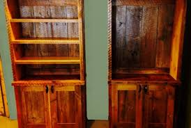 rustic bookcase fence row furniture
