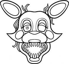 fnaf mangle coloring pages pin by velvet daszczuk on erin