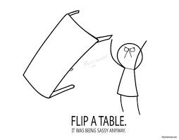 Guy Flipping Table Meme - table flip meme the best table of 2018