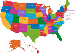 map of us states and capitals eaburke home us state maps of 50 states usa