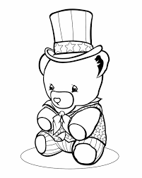 teddy bear coloring pages print kids coloring