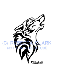 tribal wolf color the the black and white for