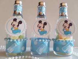 baby boy favors 12 mickey mouse fillable chagne bottles baby shower boy favors