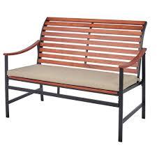 hampton bay commack brown wicker outdoor bench 760 008 000 the