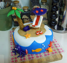 the open pantry beach birthday cake