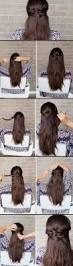 hairstyles step by step for medium length hair 25 easy half up half down hairstyle tutorials for prom the goddess