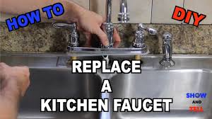 Installing A New Kitchen Faucet How To Replace A Kitchen Sink Faucet Youtube
