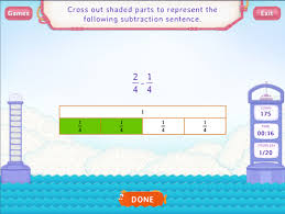 subtract fractions worksheets fourth grade math