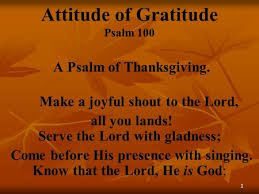 a psalm of thanksgiving ppt