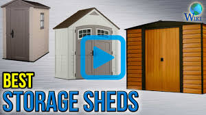 Suncast Resin Glidetop Outdoor Storage Shed by Top 9 Storage Sheds Of 2017 Video Review