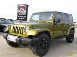 green jeep rubicon unlimited 2008 rescue green metallic jeep wrangler unlimited sahara 4x4