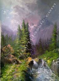 Mountain Landscape Paintings by Original Oil Paintings By Modern Artists