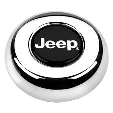 jeep steering wheel emblem grant 5695 cast classic challenger style horn button with jeep