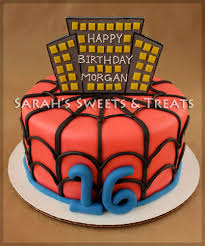 spiderman sweet 16 cake sarah u0027s sweets u0026 treats