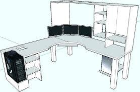 Building An L Shaped Desk L Shaped Computer Desk Plans How To Build An L Shaped Desk Corner