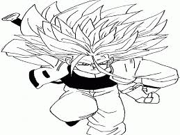 coloring pages of trunks in dbz coloring home
