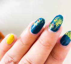 floral nail design using born pretty nail plates stamping nail