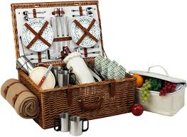 picnic basket for 4 picnic at ascot dorset style willow picnic basket with