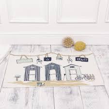 nautical beach hut bath mat