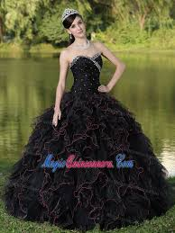 and black quinceanera dresses beading and ruffles accent black quinceanera gown dresses