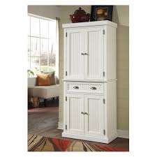 captivating white pantry storage cabinet with antique pewter